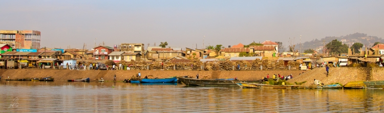 The shoreline of Lake Victoria as you leave Gabba